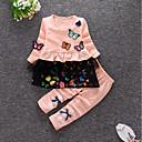 povoljno Kigurumi plišane pidžame-Dijete koje je tek prohodalo Djevojčice Boho Print Crtani film Dugih rukava Pamuk Komplet odjeće Crvena