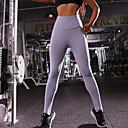 halpa Kuntoilu-, juoksu- ja joogavaatetus-Naisten Joogahousut Urheilu Yhtenäinen väri Elastaani Korkea vyötärö Alaosat Fitness Activewear Hengittävä Nopea kuivuminen Elastinen