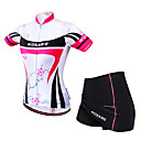 cheap Cycling Jersey & Shorts / Pants Sets-WOSAWE Women's Short Sleeve Cycling Jersey with Skirt - Fuchsia Bike Clothing Suit Breathable 3D Pad Sports Polyester Elastane Mesh Mountain Bike MTB Road Bike Cycling Clothing Apparel