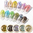 billige Rhinsten&Dekorationer-6 pcs Ministil / Bedste kvalitet Glitter Pailletter Til Fingernegl Mode Kreativ Negle kunst Manicure Pedicure Daglig Stilfuld / Kunstnerisk