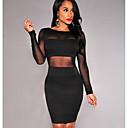 cheap Synthetic Lace Wigs-Women's Sheath Dress White Black M L
