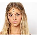 رخيصةأون مجوهرات الشعر-سلسلة رأس سبيكة أنيقة / عتيقة للمرأة - الصلبة اللون