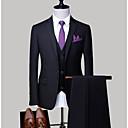 halpa Vanhan maailman asut-Miesten Pluskoko Suits, Yhtenäinen Paitapuserokaula-aukko Polyesteri Vaaleanharmaa / Laivastosininen / Vaaleansininen XXL / XXXL / XXXXL