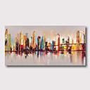 povoljno Apstraktno slikarstvo-Hang oslikana uljanim bojama Ručno oslikana - Sažetak Pejzaž Comtemporary Moderna Uključi Unutarnji okvir / Prošireni platno