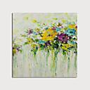 halpa Abstraktit maalaukset-Hang-Painted öljymaalaus Maalattu - Kukkakuvio / Kasvitiede Moderni Sisällytä Inner Frame / Venytetty kangas