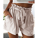 halpa Kuntoilu-, juoksu- ja joogavaatetus-Naisten Perus Shortsit Housut - Yhtenäinen Beesi Harmaa Khaki M L XL