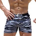 billige Våddragter, dykkerdragter, og rash guard trøjer-Herre Blå Grå Boy Leg Underdele Badetøj - camouflage XL XXL XXXL Blå