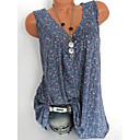 povoljno Modne ogrlice-Veći konfekcijski brojevi Majica Žene Cvjetni print V izrez Print Crn