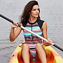 זול חליפות רטובות,חליפות צלילה וחולצות ראש-גארד-Delamon בגדי ריקוד נשים בגד ים בגדי ים ייבוש מהיר שרוול ארוך רוכסן קדמי - שחייה גלישה ספורט מים טלאים קיץ / גמישות גבוהה