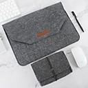 hesapli Çantalar, Kollu ve Kılıflar-Doğal yün laptop case koruyucu çanta hissettim artı güç paketi uyumlu 11-15 inç macbook pro macbook hava dizüstü gri siyah