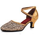 preiswerte Standardtanzschuhe & Modern Dance Schuhe-Damen Kunststoff Schuhe für modern Dance Absätze Kubanischer Absatz Silber / Rot / Rosa / Leistung / Praxis