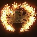 זול ה לד תאורה חכמה-3M חוטי תאורה 20 נוריות לבן חם דקורטיבי סוללות AA 1set