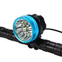 זול פנסי אופניים-LED פנסי אופניים פנס קדמי לאופניים פנס LED רכיבת הרים רכיבת אופניים עמיד במים נייד סופר מואר סוללה ניתן לטעינה מחדש 18650 7600 lm סוללות נטענות 110-240V 18650 לבן