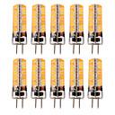 זול נורות לד חוט להט-YWXLIGHT® 10pcs 5 W נורות שני פינים לד 300-400 lm GY6.35 T 72 LED חרוזים SMD 5730 לבן חם לבן קר 12-24 V