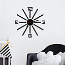 """זול שעוני קיר-מודרני עכשווי אופנתי אקרילי עגול בבית 16"""" x 16"""" (40cm x 40cm)"""