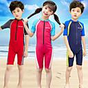 halpa Märkäpuvut, sukelluspuvut ja suoja-asut-Poikien Tyttöjen Skin-tyyppinen märkäpuku Kokopuku UV-aurinkosuojaus Nopea kuivuminen Puolihiha Etuvetoketju - Uinti Patchwork Kevät Kesä / Erittäin elastinen / Lasten
