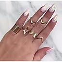 זול טבעות-בגדי ריקוד נשים טבעת טבעת הגדר 7pcs זהב סגסוגת מעגלי Geometric Shape פשוט טרנדי מתוק חתונה תכשיטים לא תואם פרפר חמוד