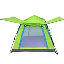 رخيصةأون مفارش و خيم و كانوبي-4 شخص خيمة شفافة في الهواء الطلق ضد الهواء مكتشف الأمطار التنفس إمكانية طبقة واحدة خيمة سهلة الفتح خيمة التخييم 1000-1500 mm إلى Camping / Hiking / Caving السفر قماش اكسفورد 200*200*138 cm