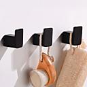 זול מתלים לחלוק-וו תליה לחלוק יצירתי Fun & Whimsical אלומיניום 3pcs - חדר אמבטיה / אמבטיה מותקן על הקיר
