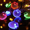 זול חוט נורות לד-4m חוטי תאורה 20 נוריות צבעוני דקורטיבי הפעלה סולרית 1set