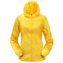cheap Softshell, Fleece & Hiking Jackets-Men's Women's Solid Color Hiking Windbreaker Rain Jacket Hiking Jacket Outdoor Spring Summer Lightweight Windproof UV Resistant Breathable Jacket Top Camping / Hiking Climbing Cycling / Bike Yellow