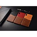 povoljno iPhone maske-Θήκη Za Apple iPhone XS / iPhone XR / iPhone XS Max Utor za kartice Stražnja maska Jednobojni Tvrdo prava koža