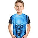 billige Sneakers til børn-Børn Baby Drenge Aktiv Basale Trykt mønster Trykt mønster Kortærmet T-shirt Blå
