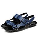 levne Pánské sandály-Pánské Komfortní boty Kůže Léto Na běžné nošení Sandály Černá / Modrá