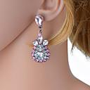 olcso Divat fülbevalók-Női Színes Mértani Függők Hamis gyémánt Fülbevaló Európai Ékszerek Kék / Rózsaszín Kompatibilitás Napi 1 pár