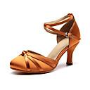 זול טבעות-בגדי ריקוד נשים נעלי ריקוד משי נעליים מודרניות עקבים עקב קובני מותאם אישית שחור / חום / ורוד / הצגה / אימון