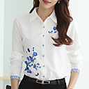 povoljno Komplet nakita-Veći konfekcijski brojevi Bluza Žene Cvjetni print Kragna košulje Print Obala