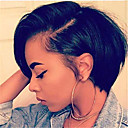 povoljno Perike s ljudskom kosom-Remy kosa Full Lace Lace Front Perika Bob frizura Stepenasta frizura stil Brazilska kosa Ravan kroj Natural Perika 130% 150% 180% Gustoća kose Nježno Žene Jednostavan dressing Najbolja kvaliteta