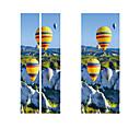 tanie Naklejki ścienne-Kreatywny diy 3d efekt drzwi naklejki wąwóz balon na gorące powietrze wzór do pokoju dekoracje ścienne akcesoria wystrój domu naklejki ścienne