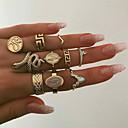 hesapli Yüzükler-Kadın's Kübik Zirconia Yüzük Yüzük Kümesi moda Moda Yüzükler Mücevher Altın Uyumluluk Düğün 10pcs