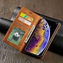 hesapli iPhone Kılıfları-Pouzdro Uyumluluk Apple iPhone XS / iPhone XR / iPhone XS Max Cüzdan / Kart Tutucu / Şoka Dayanıklı Tam Kaplama Kılıf Solid Sert PU Deri