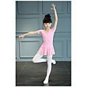 זול בגדי ריקוד לילדים-בגדי ריקוד לילדים תלבושות בנות הדרכה / הצגה תחרה / 100% כותנה סלסולים שרוולים קצרים טבעי / סרבל תינוקותבגד גוף