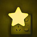 baratos Iluminação de Decoração-1 pc controle do sensor de mini estrela da lua levou luz da noite para a noite escura crianças quarto lâmpada de cabeceira eu / us plugue do bebê luz de dormir 220-240 v