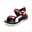 billige Sneakers til børn-Drenge PU Sandaler Komfort Hvid / Rød Sommer