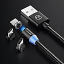זול חלקים לאופנועים וג'יפונים-סוג C כבל 1.0m (3ft) קלוע / מגנטי / LED ניילון מתאם כבל USB עבור Macbook / סמסונג / Huawei