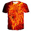 cheap Décor Lights-Men's T-shirt - Color Block Orange XXL