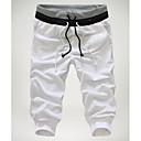 זול מכנסיים ושורטים לגברים-בגדי ריקוד גברים בסיסי צ'ינו מכנסיים - צבעים מרובים שחור אפור יין L XL XXL