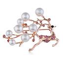 povoljno Moderni broševi-Muškarci Žene Broševi Stilski Korejski slatko Imitacija bisera Broš Jewelry Pink Zlatan Za Božić Dar Festival