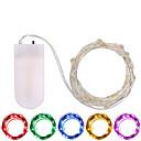 זול חוט נורות לד-3M חוטי תאורה 30 נוריות SMD 0603 לבן חם / לבן / צבעוני עמיד במים / Party / דקורטיבי סוללות מופעל 1pc