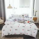 זול מיטות כלבים & שמיכות-סטי שמיכה אנימציה / פסים / הדים ' / עכשווי polyster הדפסה תגובתית / הדפס / מקבץ 4 חלקיםBedding Sets / 4 יחידות (1 כיסוי שמיכה, 2 כיסוי כרית, 1 סדין)