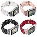 זול אביזרי אדים-תכשיטים ארבע שורות של רצועת הפנינה עבור סדרת שעונים תפוח חכם סדרת צפייה 4/3/2/1 פרק היד הלהקה iwatch