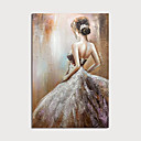 povoljno Slike za cvjetnim/biljnim motivima-Hang oslikana uljanim bojama Ručno oslikana - Sažetak Ljudi Moderna Uključi Unutarnji okvir