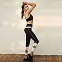 זול ביגוד כושר, ריצה ויוגה-בגדי ריקוד נשים מכנסי יוגה קולור בלוק ריצה תחתיות לבוש אקטיבי באט הרם בקרת בטן סטרצ'י (נמתח)