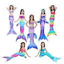 povoljno Movie & TV Theme Costumes-The Little Mermaid Rep Sirene Kupaći kostimi Filmski Cosplay Sirena Pink / Fuschia / Ink Blue Mermaid Fishtail