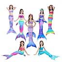 hesapli Film & TV Temalı Kostümleri-The Little Mermaid Deniz Kızı Kuyruğu Mayolar Film Kostümleri Deniz Kızı Pembe / Fuşya / Mavi Mürekkep Denizkızı fishtail