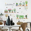 זול אומנות ממוסגרת-טריים ירוקים צמחים מדבקות קיר - מילים&אמפר ציטוטים קיר מדבקות תווים חדר לימוד / משרד / חדר אוכל / מטבח